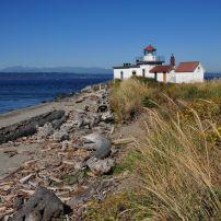 West Point Lighthouse, Discovery Park, Seattle, Washington, USA