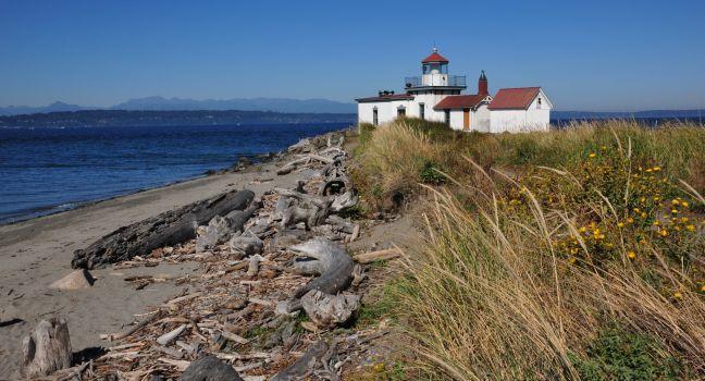 West Point Lighthouse, Discovery Park, Seattle, Washington, USA