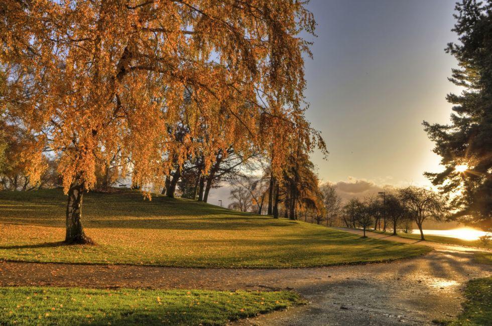 Green Lake Park, Green Lake, Seattle, Washington, USA