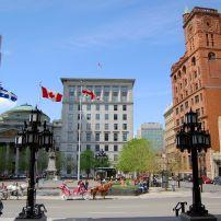 Place d'Armes, Old Montreal, Montreal, Quebec, Canada