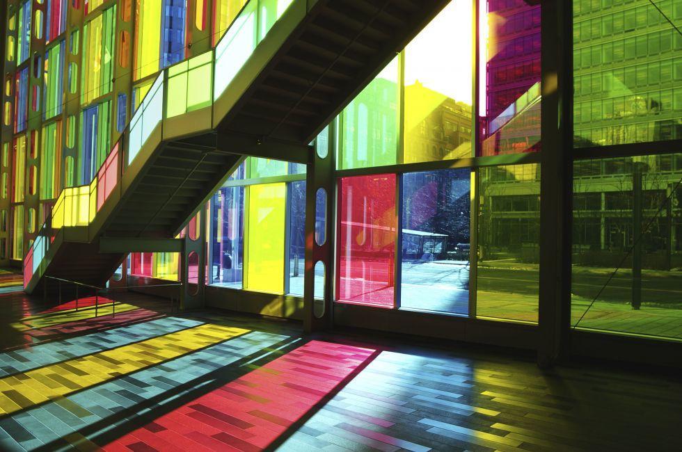 Staircase, Montreal Convention Center, Palais des Congres de Montreal, Montreal, Quebec, Canada
