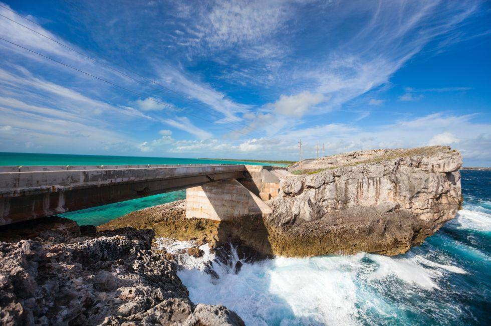 Glass Window Bridge, Eleuthera Island, Bahamas, Caribbean