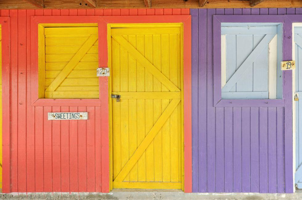 Wooden Shops, Bannerman Town, Eleuthera, Bahamas, Caribbean