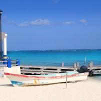 Beach, Boat, Dock, Puerto Morelos, Caribbean Coast, Mexio