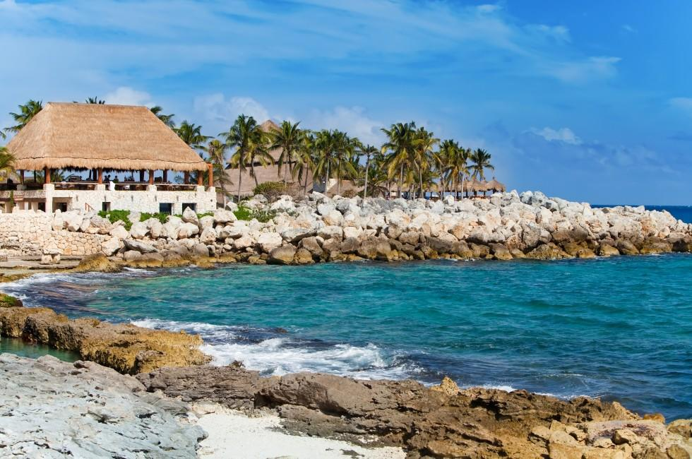 Xcaret Park, Coastline, Xcaret, Caribbean Coast, Mexico