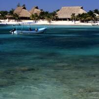 Beach, Boat, Akumal, Caribbean Coast, Mexico