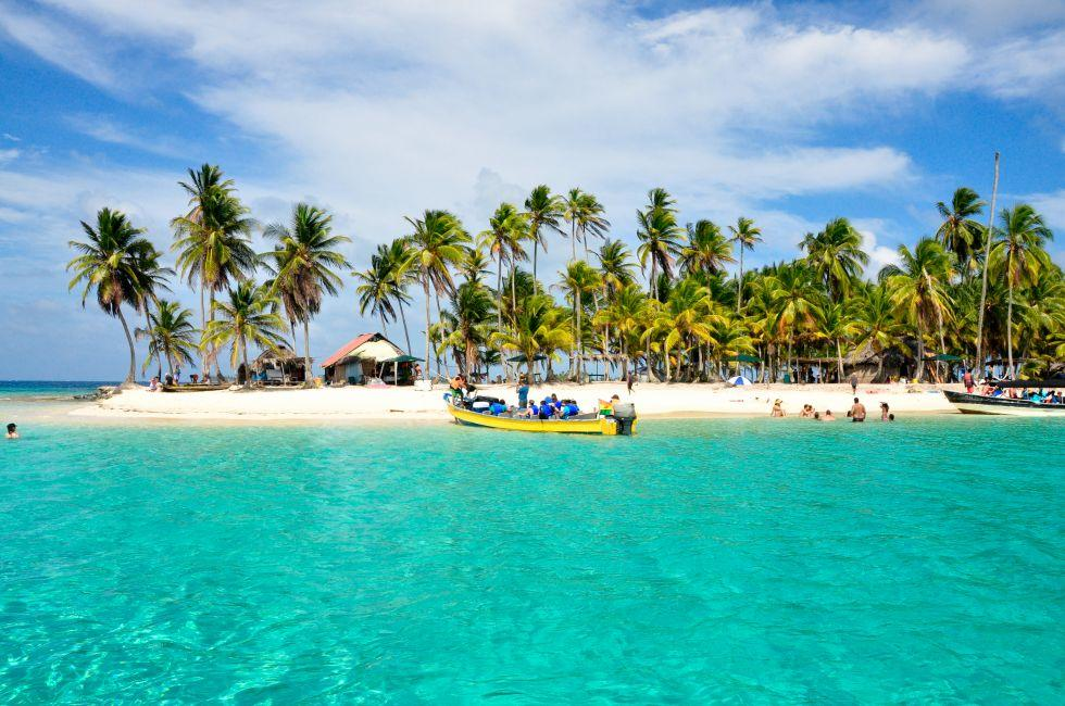 Beach, Guna Yala, San Blas, Eastern Panama, Panama, Mexico and Central America