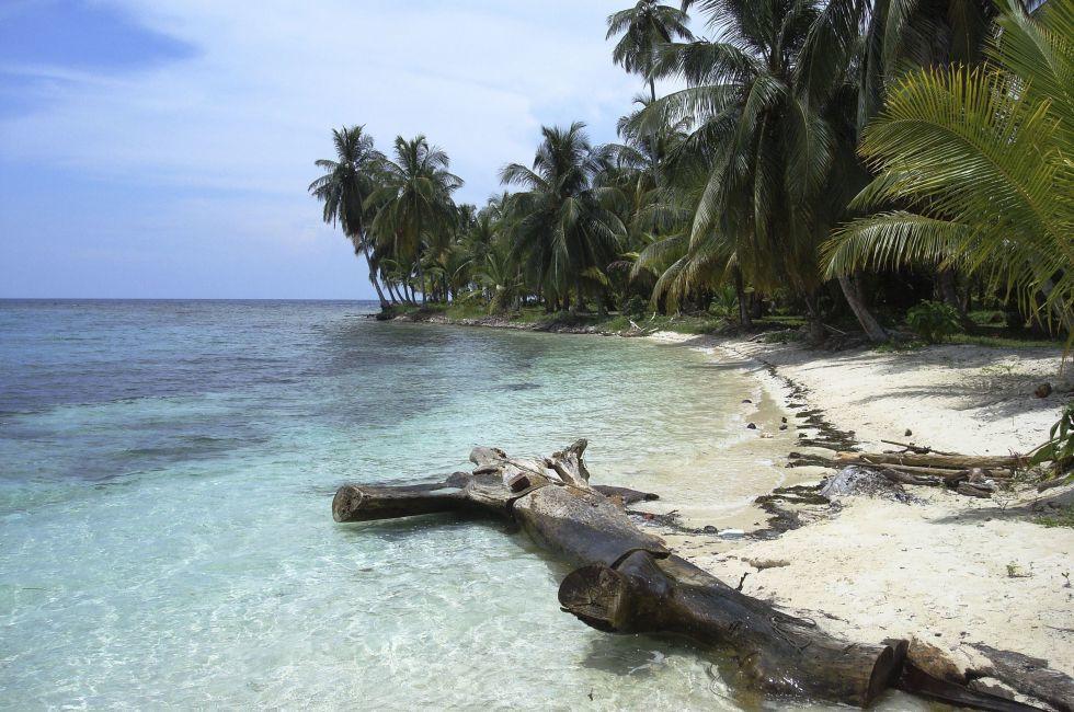 Beach, San Blas, Panama.