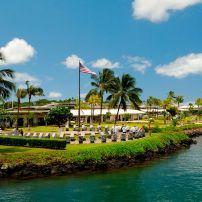 View of Pearl Harbor Visitors Center, Pearl Harbor, Honolulu, Honololu and Oahu, Hawaii.