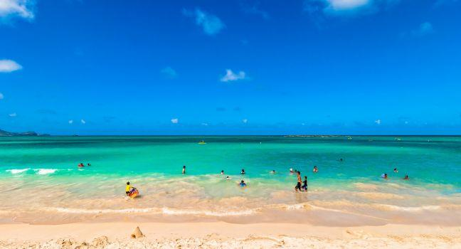 Kailua Beach, Kailua Beach Park, Windward Oahu, Honolulu and Oahu, Hawaii, USA, North America