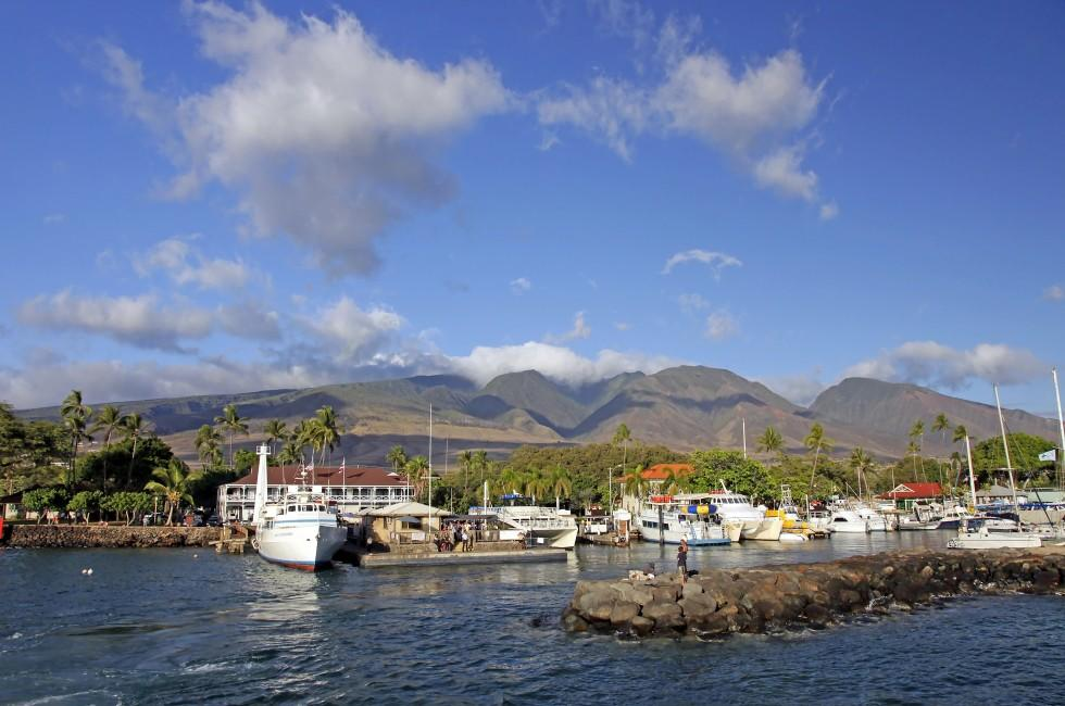 Pier, Jetty, Harbor, Lahaina, West Maui, Maui, Hawaii, USA