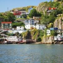Coastline, Houses, Cliff,  St. John's, Newfoundland, Canada