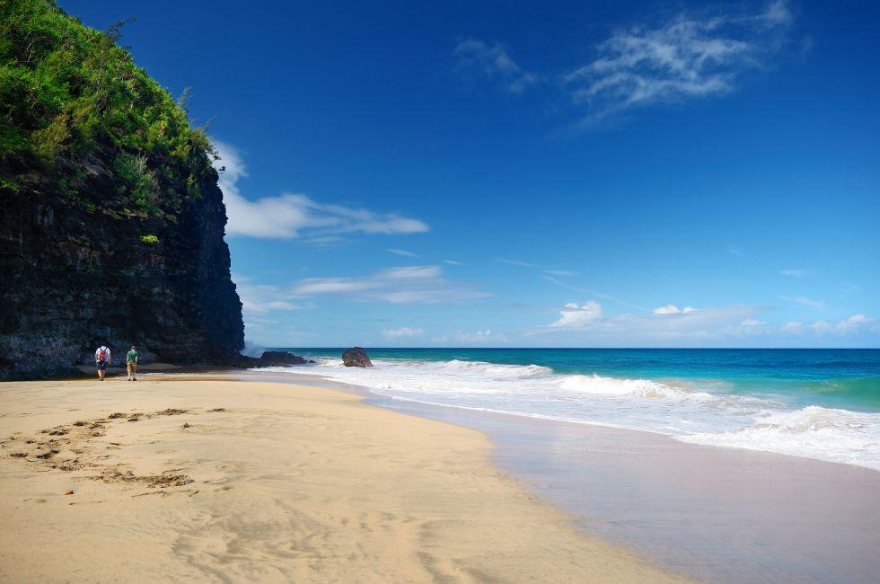 Hanakapiai Beach, Kalalau Trail, Na Pali Coast, Kauai, Hawaii