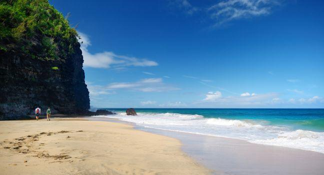 Hanakapiai Beach, Kalalau Trail, Na Pali Coast, Kauai, Hawaii