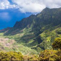 Pu'u O Kila Lookout, Kalalau Valley, Na Pali Coast, Kauai, Hawaii