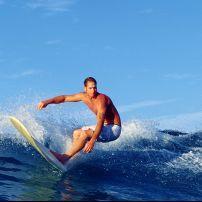 Surfer, Waikiki Beach, Honolulu, Honolulu and Oahu, Hawaii, USA, North America