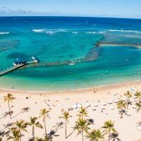 Waikiki Beach, Waikiki, Honolulu, Honolulu and Oahu, Hawaii, USA