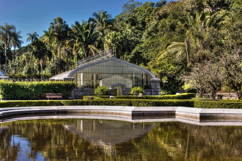 Pond, Greenhouse, Botanic Garden, Sao Paulo, Brazil