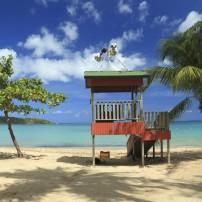 Lifeguard Shack, Seven Seas Beach, Fajardo, Puerto Rico, Caribbean