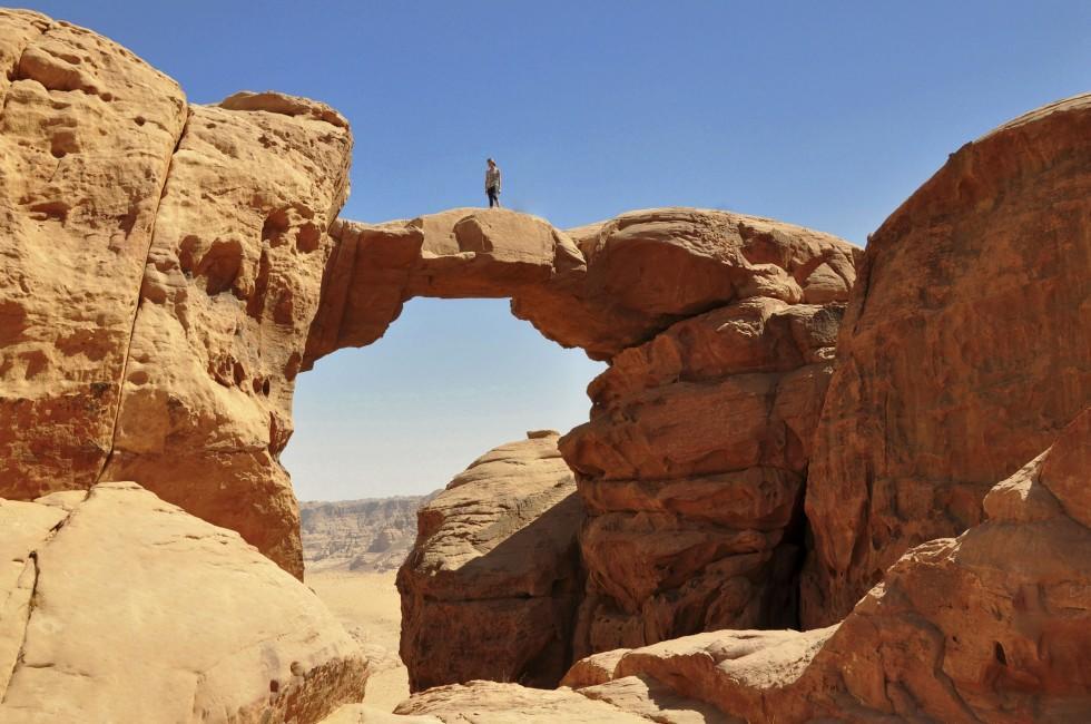Stone Bridge, Desert, Wadi Rum, Jordan