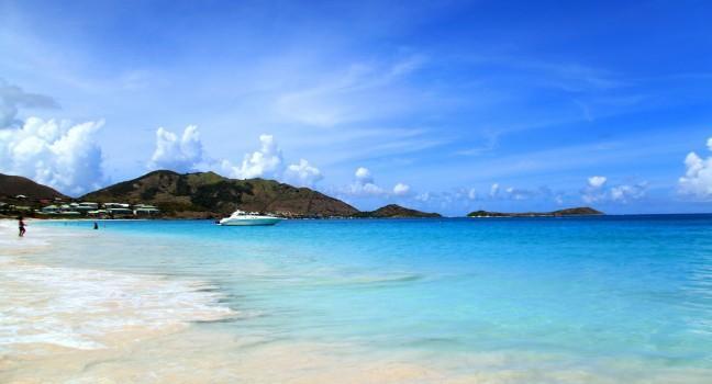 Beach, Baie Orientale, St. Martin, Carribean