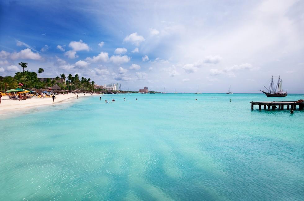 Beach, Palm Beach, Aruba, Caribbean