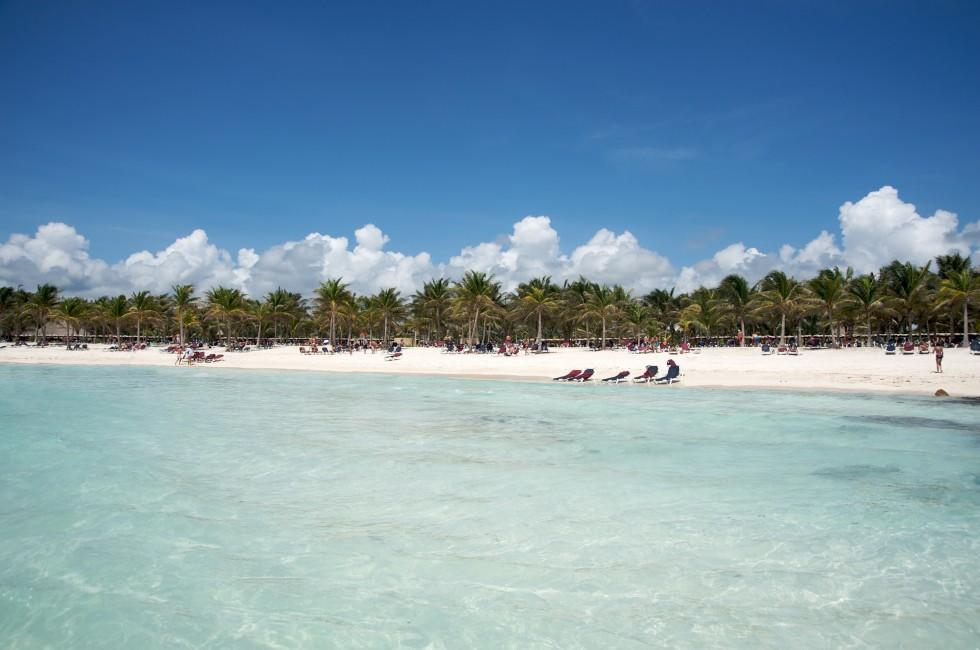 Beach, People, Punta Tanchacte (Bahia Petempich), Carribbean Coast, Mexico