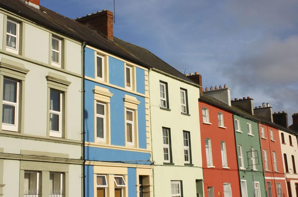 Apartments, Building, Facade, Row, Cork City, Ireland