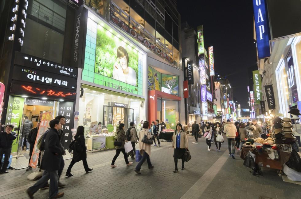Crowd, Shopping, Myeong-Dong, Seoul, South Korea