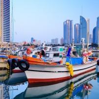 Boats, Harbor, Haeundae, Busan, South Korea