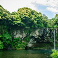 Cheonjiyeon Waterfall, Jeju Island, South Korea
