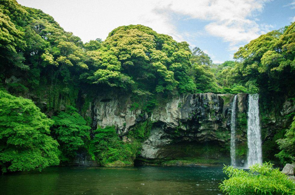 Cheonjiyeon Waterfall, Jeju Island, South Korea