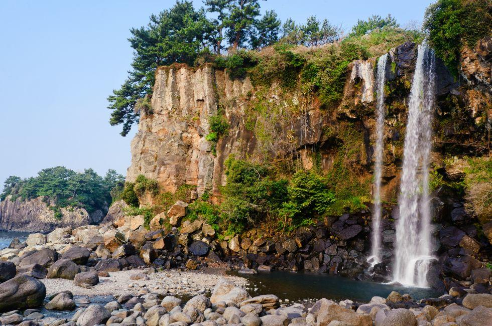 Jeongbang Waterfall, Jeju Island, South Korea