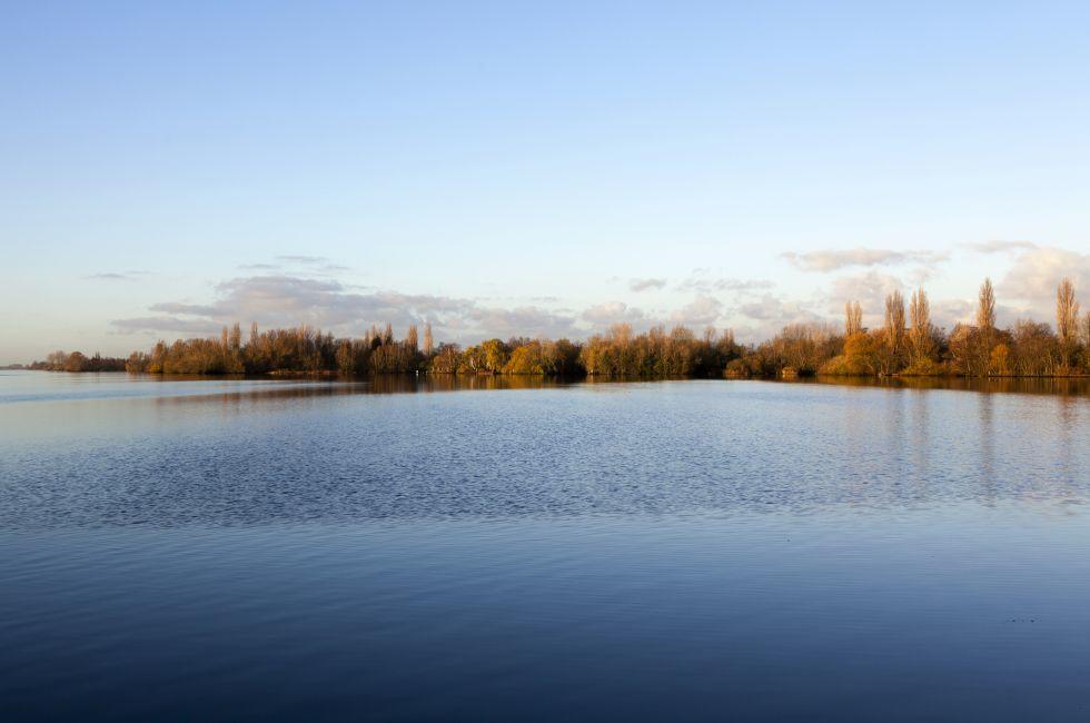 Westeinder Plassen lake, Aalsmeer, Holland