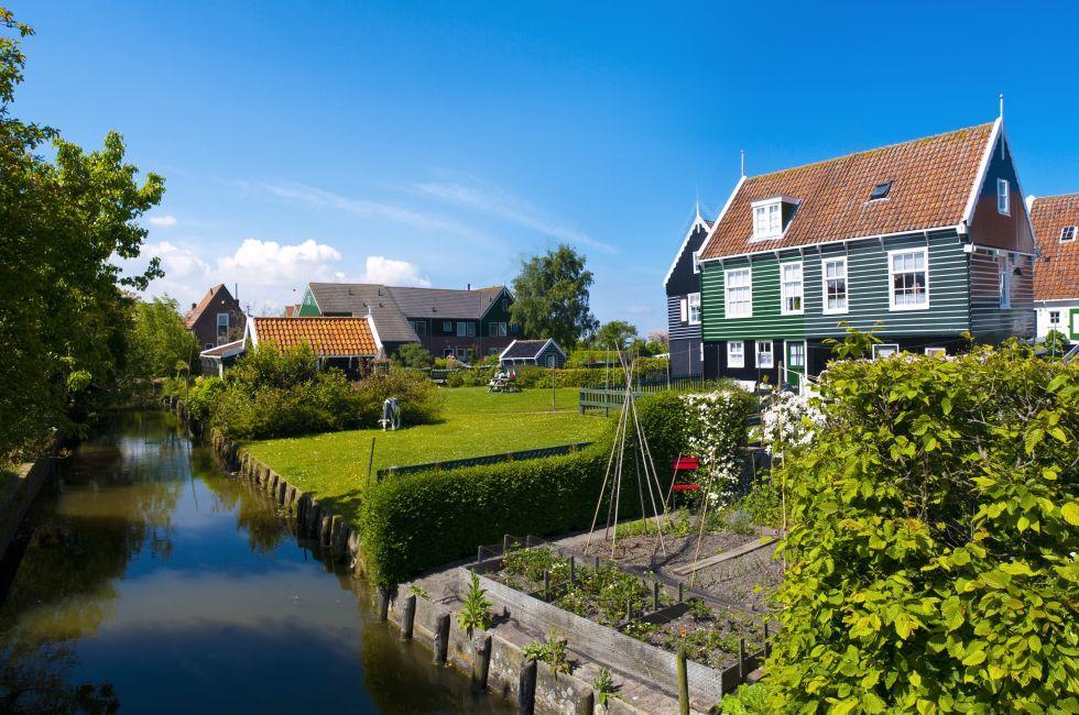 Cottages, Marken, The Netherlands