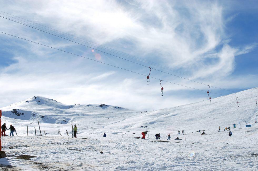 Skiing, Farellones Ski Area, Santiago, Chile