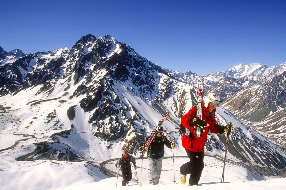 Skiing, Mountain, Portillo, Santiago, Chile