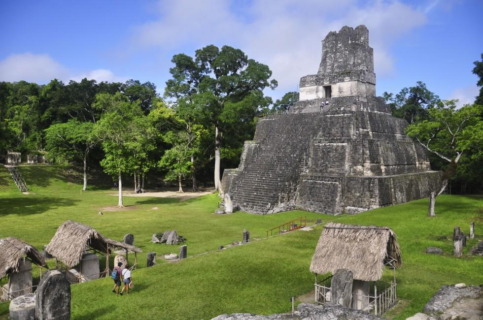 Temple II, Great Plaza, Tikal, Guatemala.