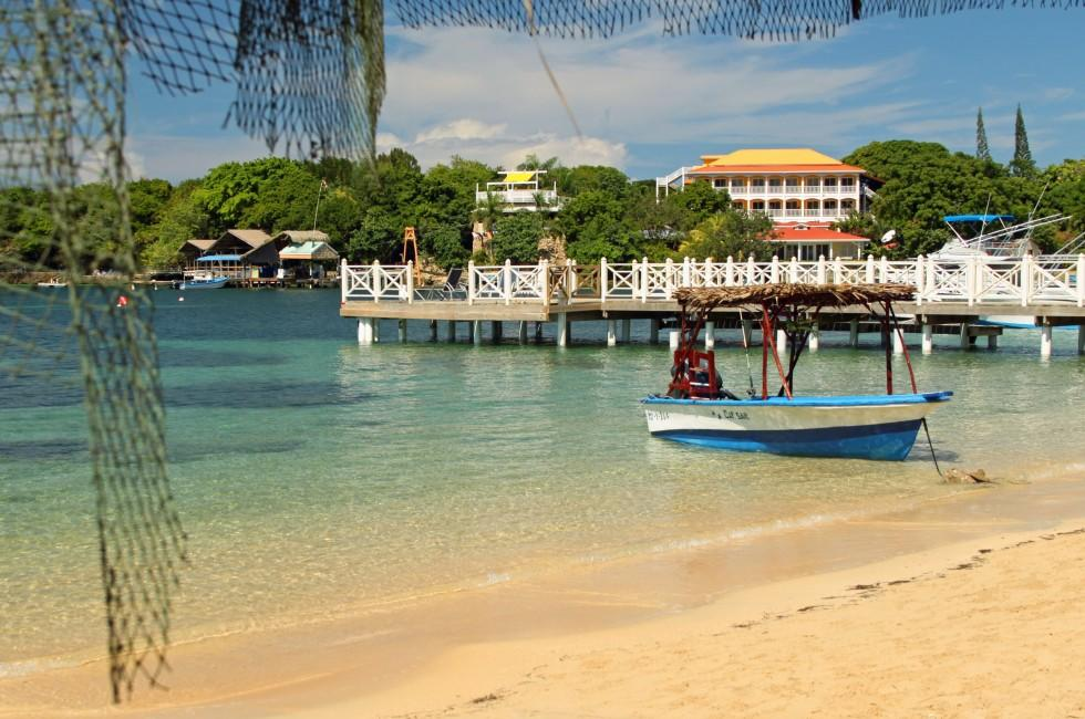 Boat, Dock, West End Beach, Roatan, Honduras