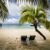Lounge Chairs, Beach, Roatan, Honduras