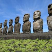 Moai, Ahu Tongariki, Easter Island, Chile