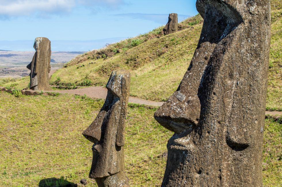 Moaia, Rapa Nui, Easter Island, Chile