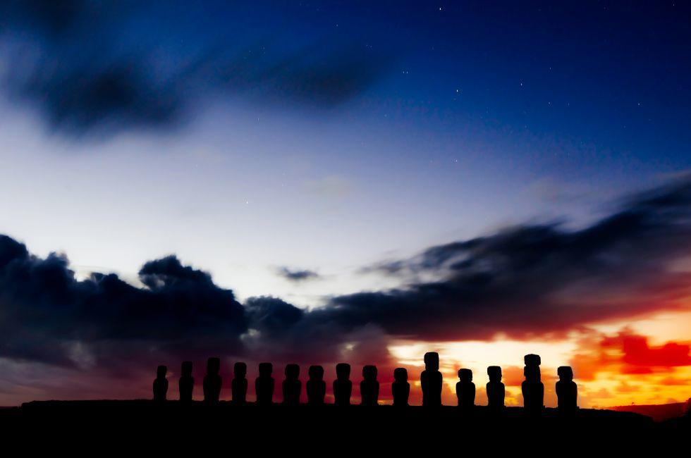 Moais, Easter Island, Chile