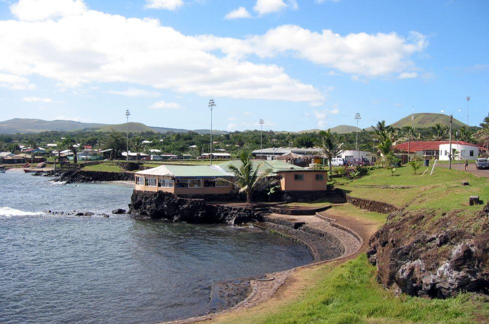 Harbor, Hangaroa, Easter Island, Chile