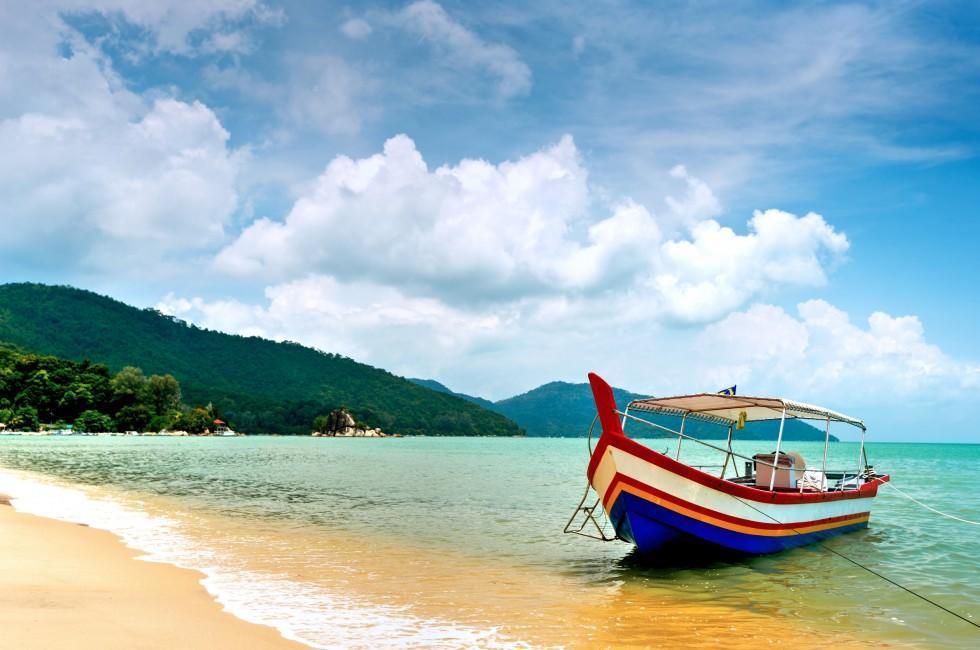 Boat, Beach, Penang, Malaysia