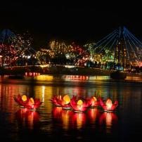 Lanterns, Lake Bere, Night, Colombo, Sri Lanka