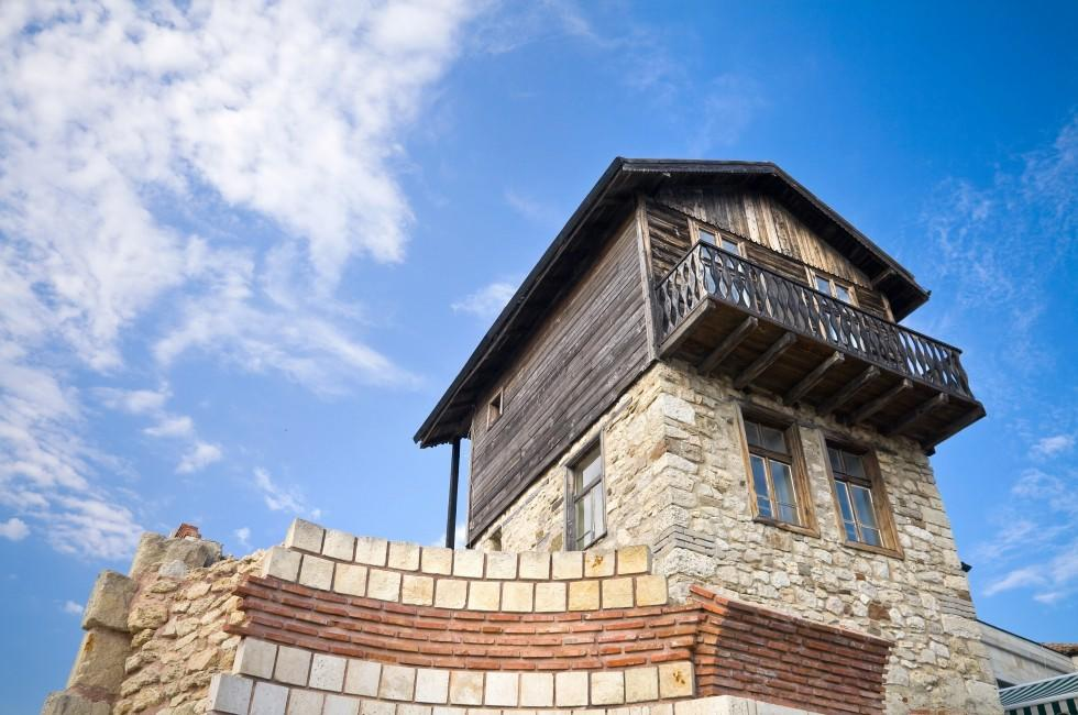 House, Blue Sky, Nessebur, Black Sea Coast, Bulgaria