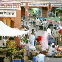 Jaipur outdoor market,