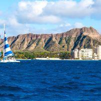Diamond Head, Honolulu, Honolulu and Oahu, Hawaii, USA.