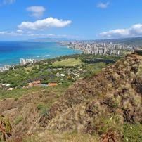 Diamond Head State Monument and Park, Diamond Head, Honolulu, Honolulu and Oahu, Hawaii, USA.